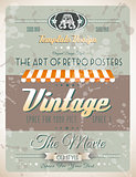Grunge Vintage retro page template