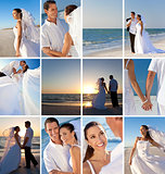 Montage of Romantic Couple Beach Wedding
