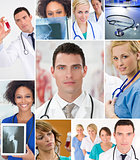 Montage of Medical Team Nurses &amp; Doctor