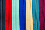 Zipper colorful background