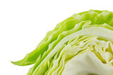 Green cabbage slide
