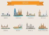 City symbol. Spain