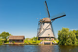 Windmill at Kinderdijk in May