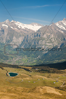 Alps and valley