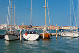 Boats at the pier in Venice