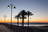 Sunrise on the Malaga beach