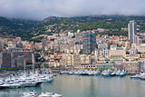 Monaco on a cloudy day