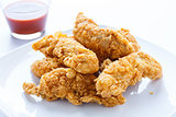 Chicken Strips with Hot Pepper Sauce
