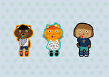 cartoon fashion animals icon