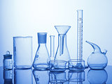 Lab assorted glassware equipment