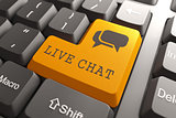 Keyboard with Live Chat Button.