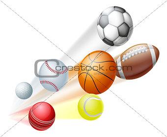 Sports balls concept