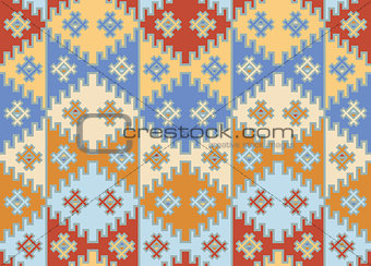 Vector. Seamless mosaic background. Indian style.