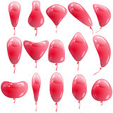 Background with glossy colored balloons. Vector illustration.