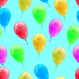 Background with glossy multicolored balloons. . Seamless wallpap