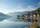 perast village in the bay of kotor in montenegro 
