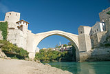 mostar bridge in bosnia