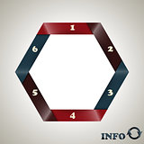 vector hexagon  infographic template