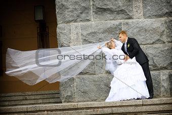 kiss of groom