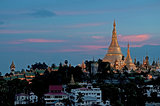 shwedagon pagoda in yangon myanmar