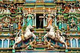 Hindu temple with indian gods kuala lumpur malaysia