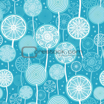 Abstract Dandelion Plants Seamless Pattern Background