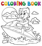 Coloring book water sport theme 2
