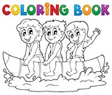 Coloring book water sport theme 3