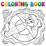 Coloring book water sport theme 4