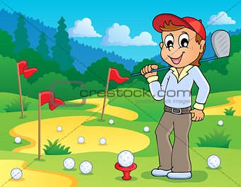 Image with golf theme 3
