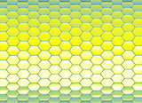 3d abstract backdrop in blue yellow hexagon