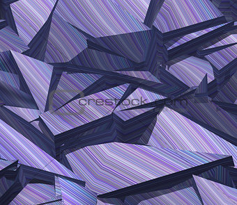 3d fragmented stripe pattern purple blue backdrop