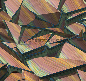 3d fragmented stripe pattern rainbow backdrop
