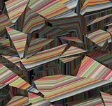 3d fragmented stripe pattern rainbow backdrop