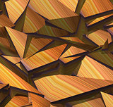 3d fragmented stripe pattern orange purple backdrop