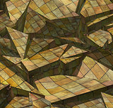 3d fragmented wood timber tile pattern