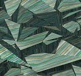 3d fragmented wood timber tile pattern in blue green