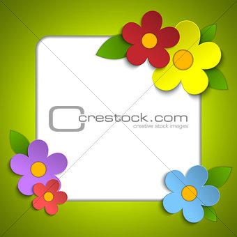 Beautiful Spring Flowers Orange Background