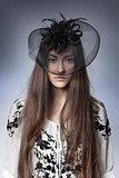 girl in a beautiful hat