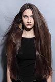 girl with long beautiful hair