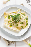 Ravioli with herbs