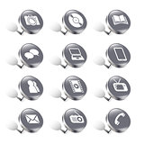 pushpin media/communication icons