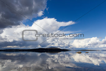 water landscape with clouds