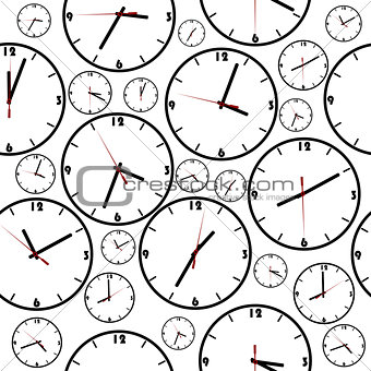 Background with simple clocks