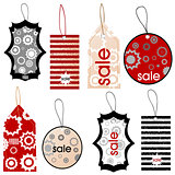 Price tags with different designs