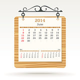 june 2014 - calendar