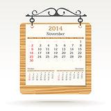 november 2014 - calendar