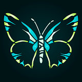 Green blue butterfly