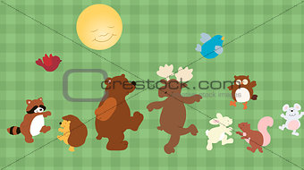 Forest critters set