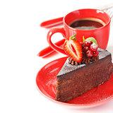 Cake and coffee.